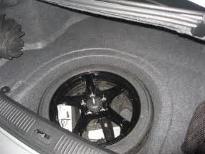 2011 Cadillac Cts Spare Tire Spare Tire Space