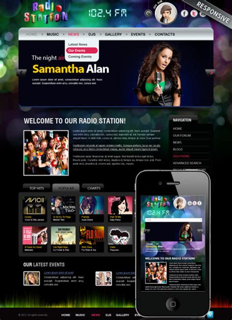 template joomla radio station free radio station responsive joomla template