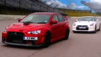 Nissan Gtr Vs Mitsubishi Evo Nissan Gtr Vs Mitsubishi Evo Fq 400 Fifth Gear