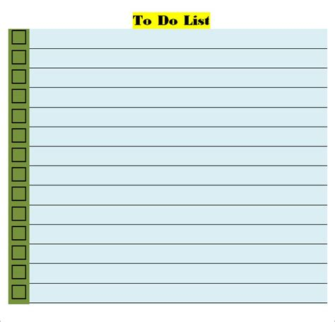 word to do list template to do list template 16 free documents in word