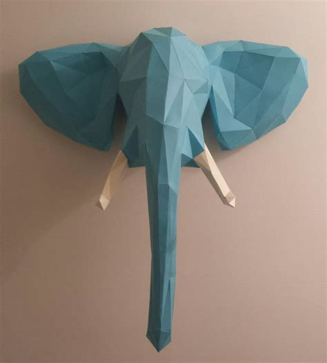paper craft elephant welcome to the jungle elephant papercraft
