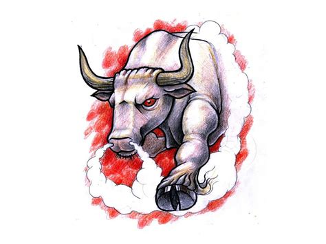 angry bull tattoo design bull tattoos and designs page 204