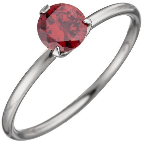 damen ring edelstahl mit swarovski 174 element rot ebay