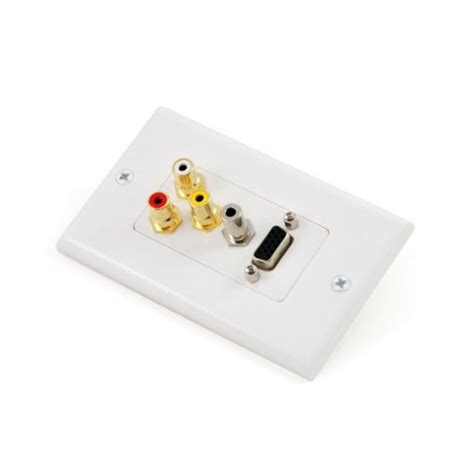Plate Vga Stereo vga 3 5mm audio 3 rca wall plate homewired