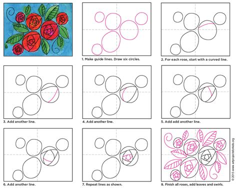 how to draw circle doodle draw circle roses projects for