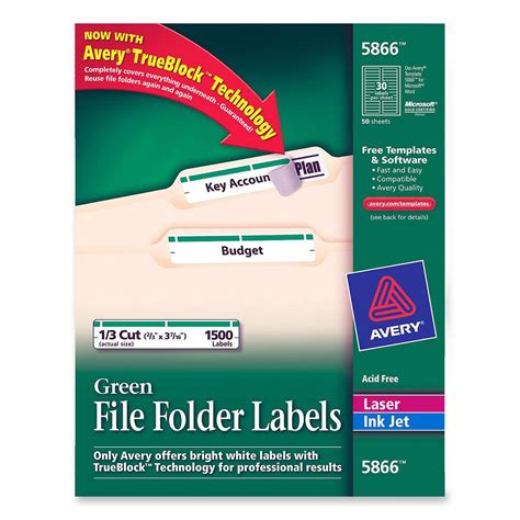 avery file folder labels template avery filing labels ld products