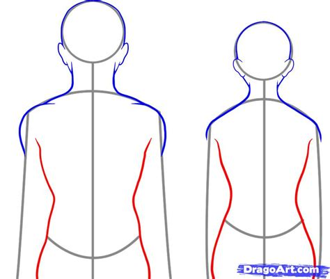 How To Draw A Person Facing Backwards how to draw a back step by step anatomy free