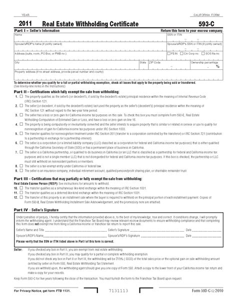 section 351 of the internal revenue code 593c form real estate withholding certificate