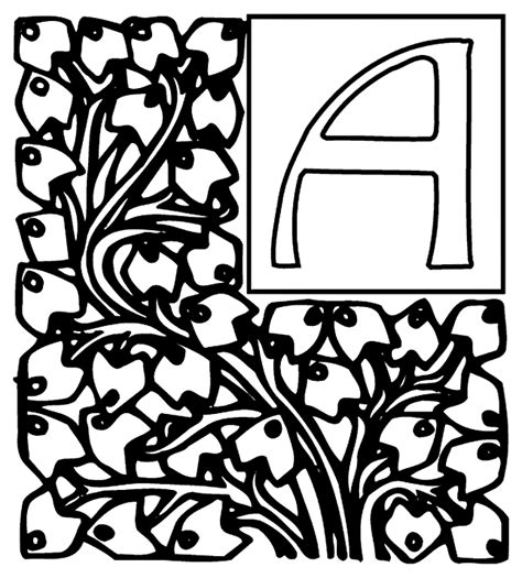 crayola coloring pages letters alphabet garden a coloring page crayola com