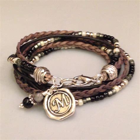 how to make boho jewelry leather bracelet beaded boho wrap braceletunisex leather