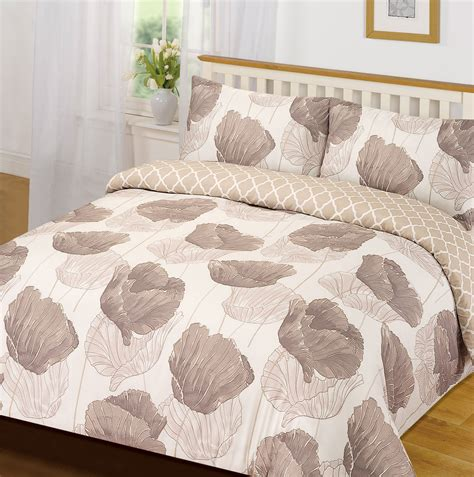 Brown Quilt Set by Quilt Cover With Pillow Bedding Set Corinne Petal