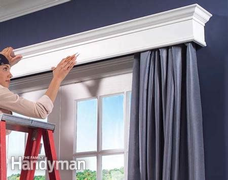 Window Curtain Box How To Build Window Cornices The Family Handyman