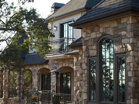 home exterior design stone french country home with stone rear exterior