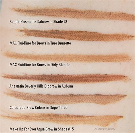 New Catalog From Benefit 2 by The New Benefit Cosmetics Brow Collection Swatches Review
