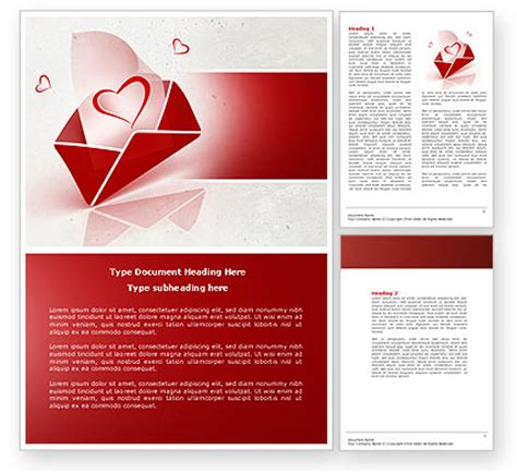 templates for word love free letter with love word template 04451