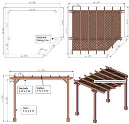 Pergola Construction Details by Wooden Wooden Pergola Drawings Pdf Plans