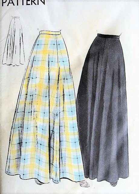 pattern house kent skirt 1940s classy evening skirt pattern vogue 9603 easy to make