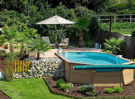 Pool Decorating Ideas by Bloombety Above Ground Pool Fence Design Ideas With Yellow Above Ground Pool Design Ideas