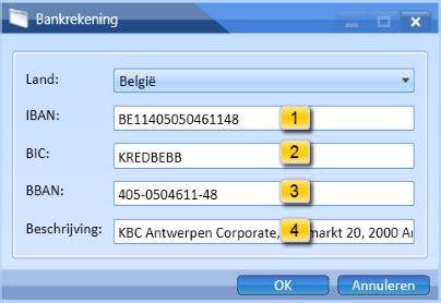 kbc bank bic code iteratie op een lijst