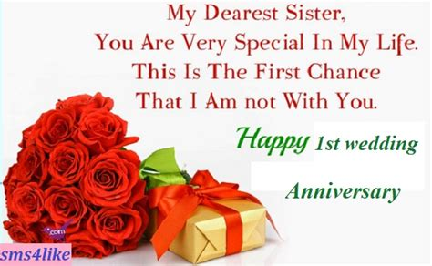 1st wedding anniversary gift for sister best wishes quotes for sister wedding image quotes at
