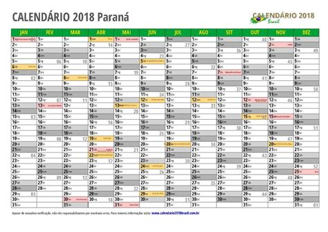 Calendario 2018 Carnaval Calend 225 2018 Paran 193 Feriados