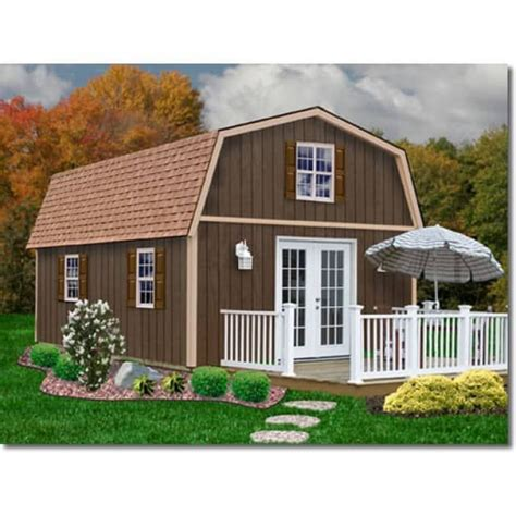 best barns richmond 16 x 24 wood shed shed town usa