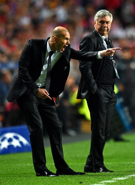 Waterproof Carlo Ancelotti Real Madrid Uefa zinedine zidane and carlo ancelotti photos photos real madrid v atletico de madrid uefa