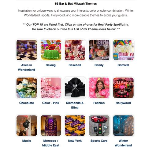 theme party list ideas list of 65 bar bat mitzvah party themes theme ideas
