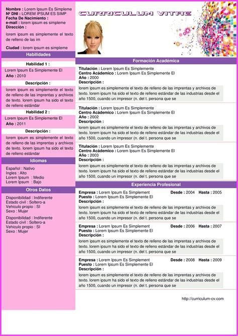 Plantilla De Curriculum Vitae Pdf plantilla modern curriculum hacer curriculum vitae gratis en 5 minutos con plantillas