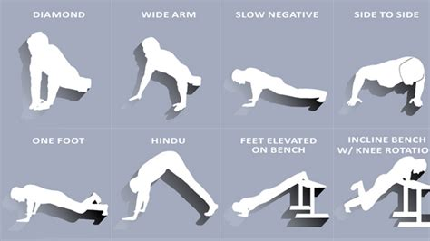 this interactive guide shows 100 ways to do push ups with