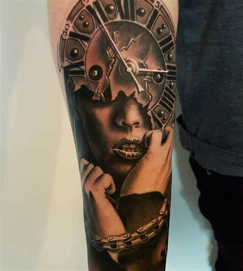 clock face tattoos designs 336 best images about cool tattoos on wolves