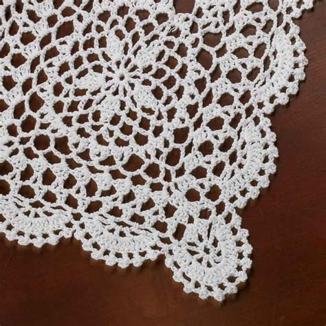 crochet doily rectangular white crocheted doily crochet and lace