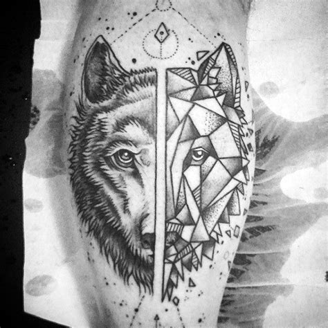 matching wolf tattoos 30 matching ideas for couples calf tattoos