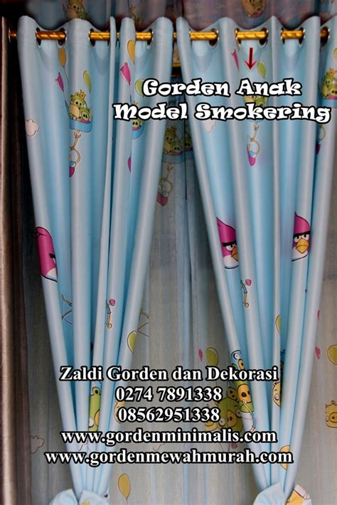 Gorden Horden Korden Tirai Motif Orchad jual gorden kamar anak bahan blackout terbaru model smokering gorden anak perempuan gorden
