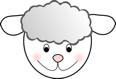 printable lamb mask template smiling good sheep clip art at clker com vector clip art