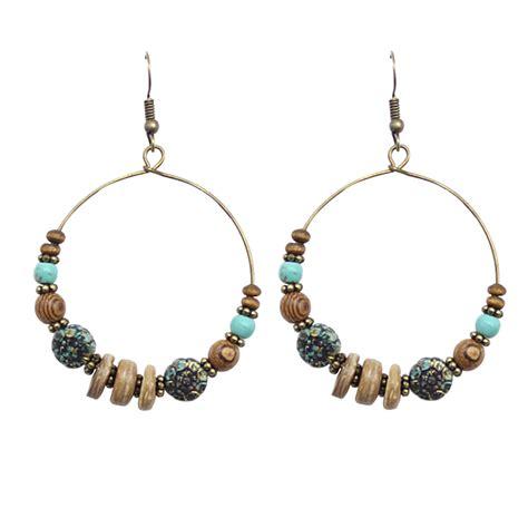 Circle Dangle Earring circle pierced dangle earrings