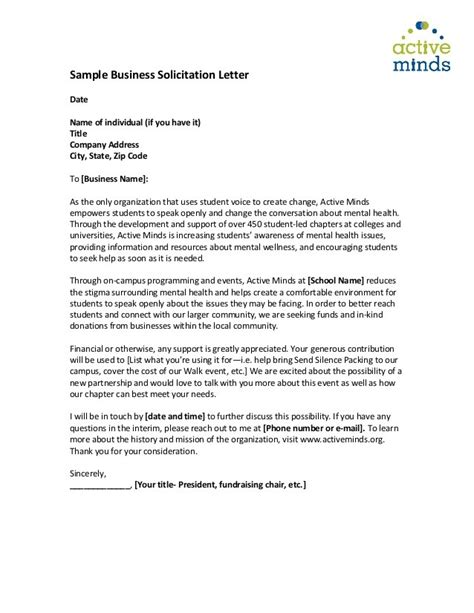 Business Letter Solicitation Template sle solicitation letter for new business docoments