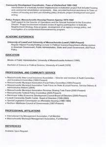 Town Manager Sle Resume by Resumes Of Lowell City Manager Candidates