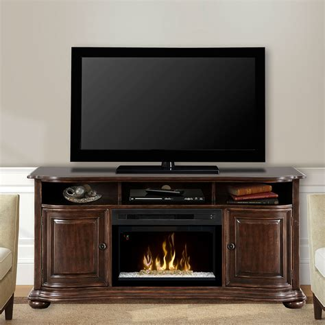 entertainment center with electric fireplace henderson distressed cherry electric fireplace