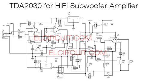 tda   subwoofer amplifier circuit audio