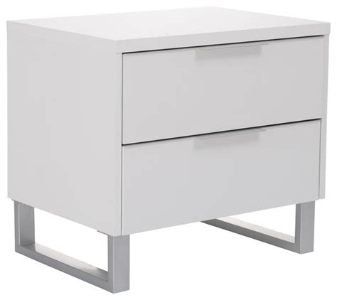 White Gloss Bedside Drawers by Miami 2 Drawer Bedside High Gloss White Nightstands