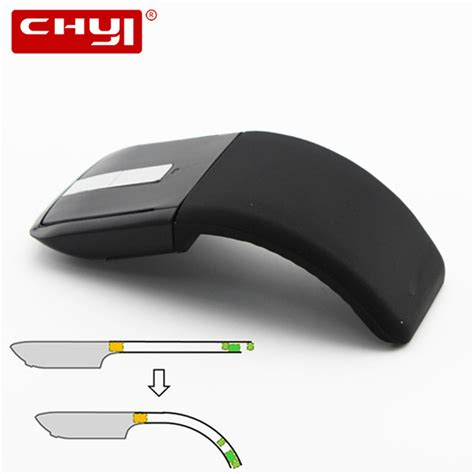 Arc Mouse Foldable Wireless Mouse chyi 2 4ghz foldable wireless mouse folding arc touch mouse mause computer gaming mouse mice for