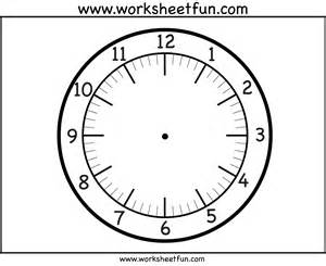 clockface template time printable clock 4 worksheets free