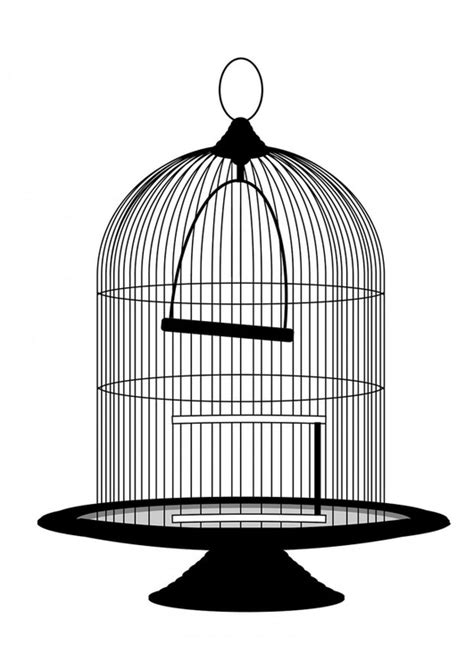 uccelli gabbia disegno da colorare gabbia per uccelli cat 29373