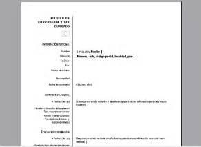 Descargar Plantilla De Curriculum Vitae Europeo Para Rellenar Plantillas Curriculums Vitae Europeos Doc Curriculums Vitae