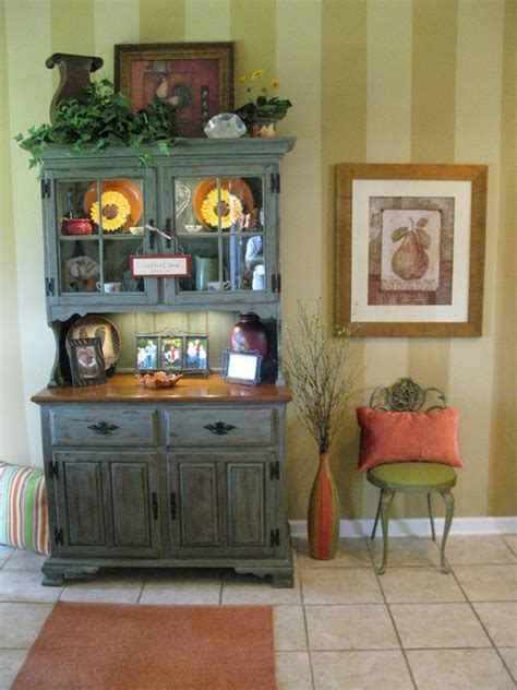 Decorating Ideas For A Kitchen Hutch Distressed Buffet Hutch Eclectic Kitchen Other Metro