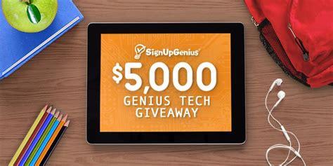 Tech Giveaways - signupgenius 5 000 genius tech giveaway giveaway gorilla