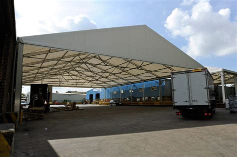 industrial awnings canopies bespoke industrial loading canopy hts industrial uk