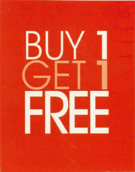 buy one buy one get one free select services in september