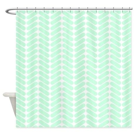 Mint Colored Curtains Mint Green Zigzag Pattern Shower Curtain By Metarla2